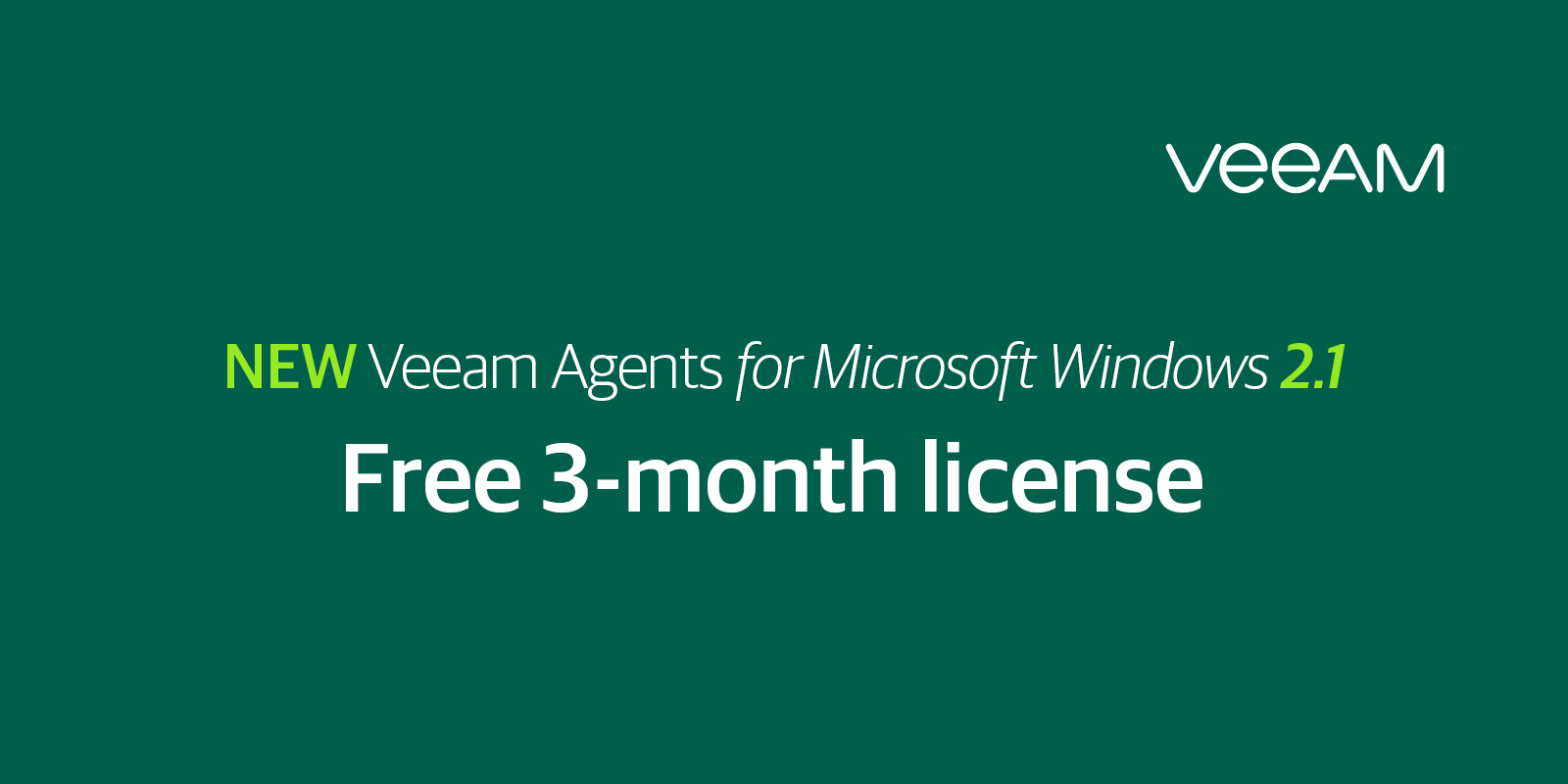 Miscrosoft Windows Server Backup Software - Veeam Agent for