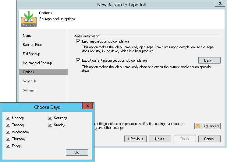Veeam Backup & Replication lets you archive files and VM backups to tape.