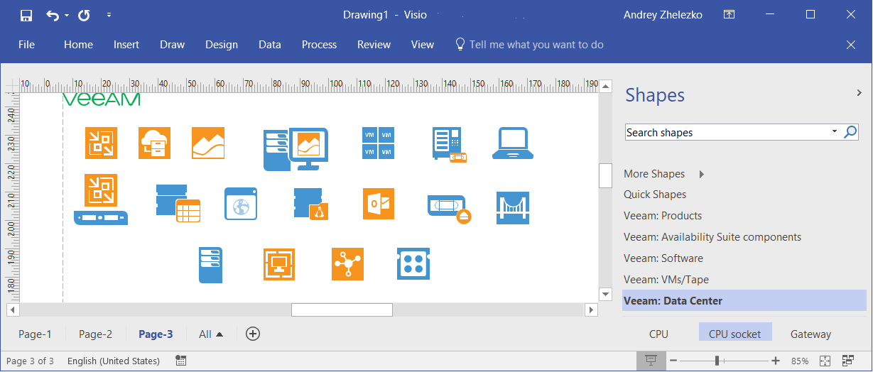 Looking for the latest Visio Stencils for VMware, Hyper-V ... on