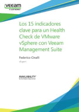 Los 15 indicadores clave para un Health Check de VMware vSphere con Veeam Management Suite