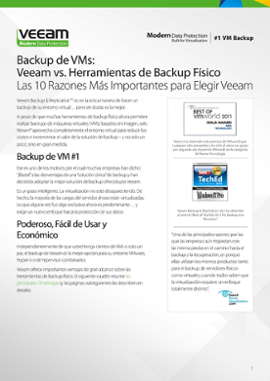 Veeam Backup & Replication »  Veeam vs. Herramientas de Backup Físico (LATAM)