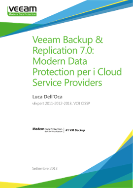 Veeam Backup & Replicaton 7.0: Modern Data Protection per i Cloud Service Providers