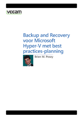 Backup and Recovery voor Microsoft Hyper-V met best practices-planning