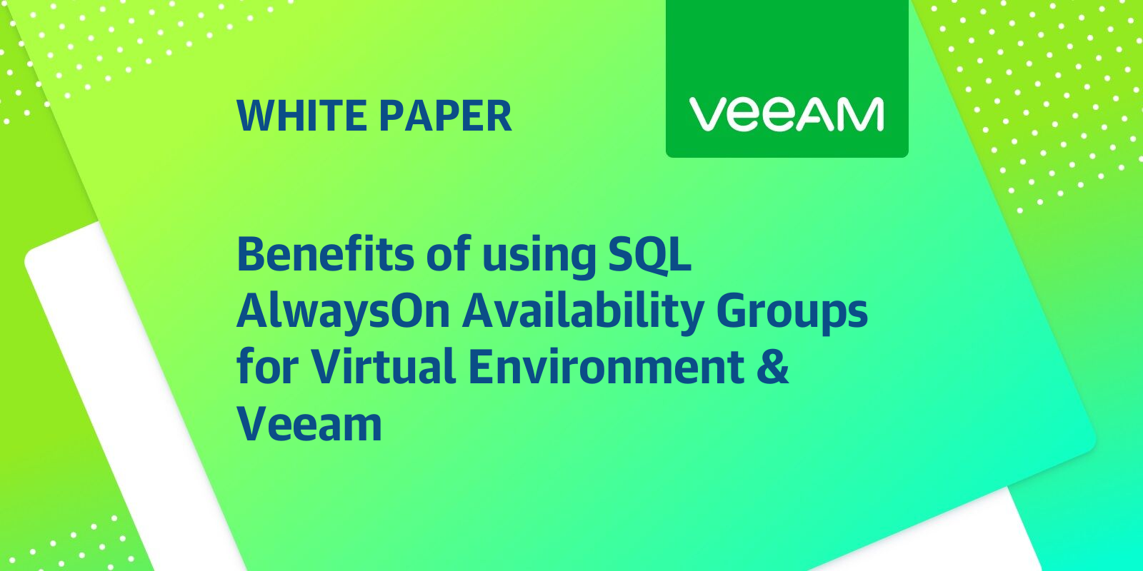 Sql Alwayson Availability Groups For Virtual Environment
