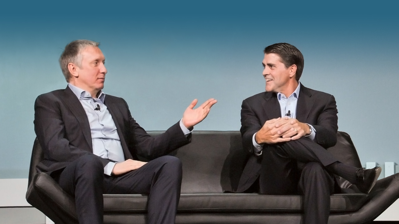 Ratmir Timashev and Carl Eschenbach at VeeamON