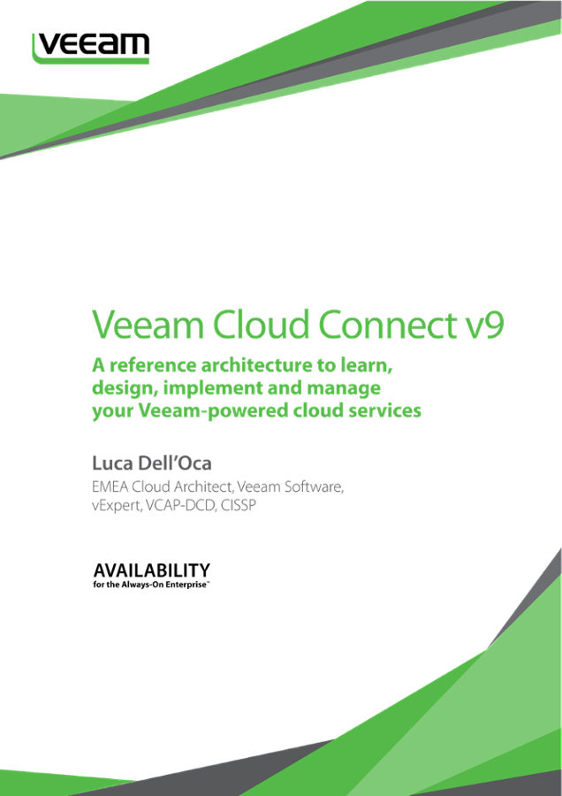 Veeam Cloud Connect V9 A Reference Architecture