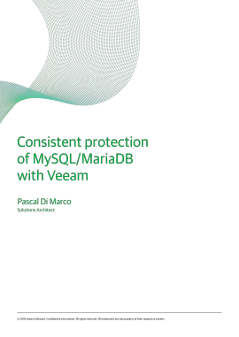 Consistent protection of MySQL/MariaDB with Veeam