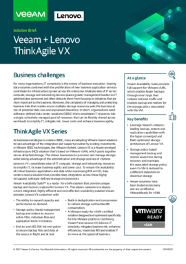Data Protection for ThinkAgile VX