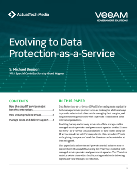 Evolving to Data Protection-as-a-Service