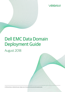 Best Practices for Dell EMC VNX/VNXe and Data Domain with Veeam Availability Suite