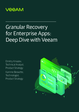 Granular recovery for enterprise apps: a deep dive with Veeam