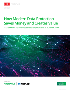 How Modern Data Protection Saves Money and Creates Value