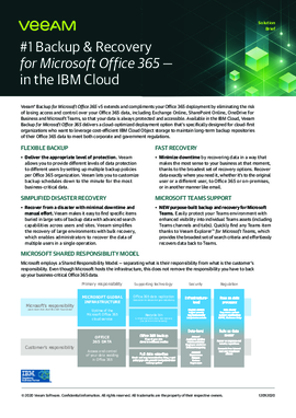 Veeam Backup and Recovery for IBM Cloud