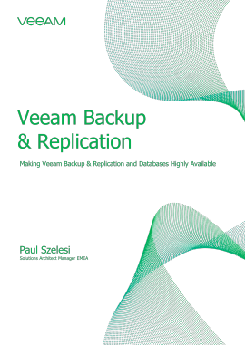 Making Veeam Backup & Replication and databases highly available