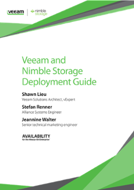 Veeam and Nimble Storage: Integrated Deployment Guide
