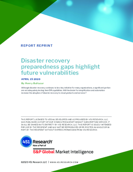 Disaster Recovery Preparedness Gaps Highlight Future Vulnerabilities