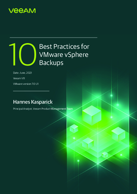 Top 10 Best Practices for vSphere Backups