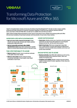 Transforming Data protection with Integrations for Microsoft Azure and Microsoft Office 365