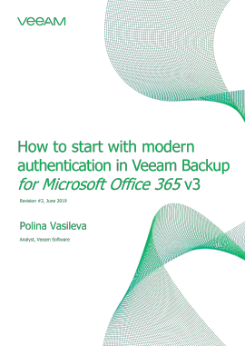 How to start with modern authentication in Veeam Backup for Microsoft Office 365 v3