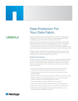 Data Protection for Your Data Fabric